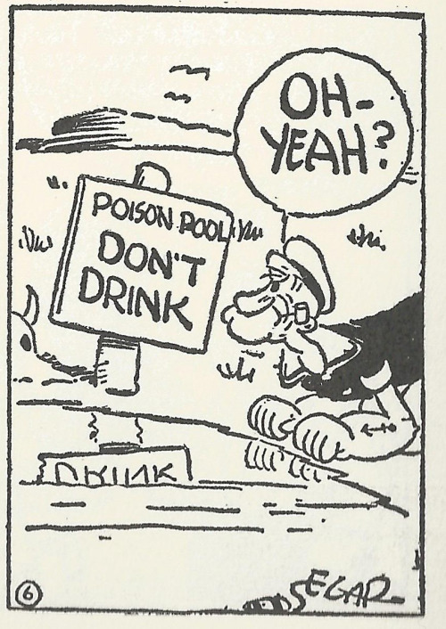 popeyepanels:  Poison. February 24, 1931.