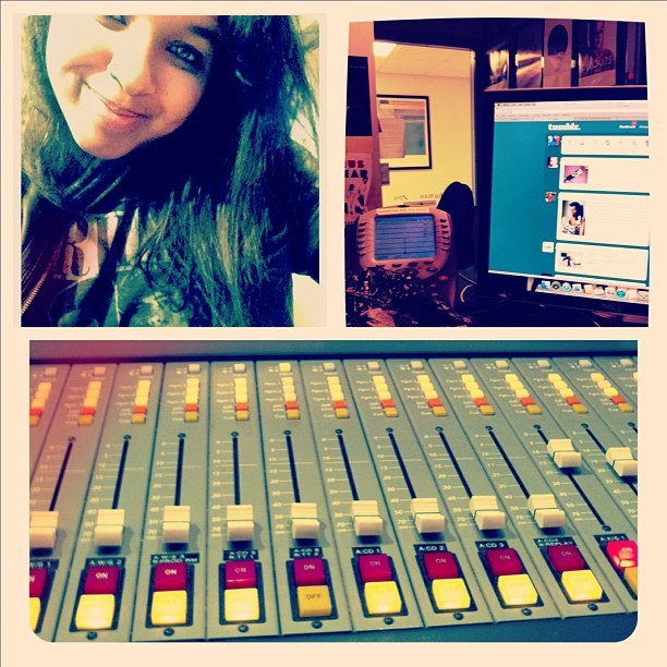 Music and tumblr are pretty much my mornings…even at work! Tune in to album 88, Atlanta! :)
