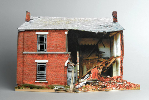 thingsmagazine:  Broken Houses by Ofra Lapid