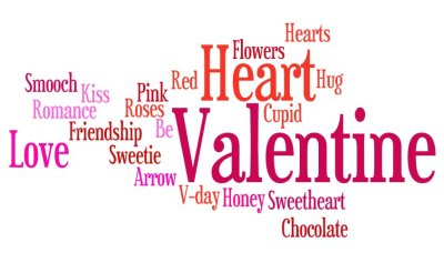 Just a few of our favorite things in our thought cloud this Valentine's Day! What romantical words have you buzzing for V-Day?