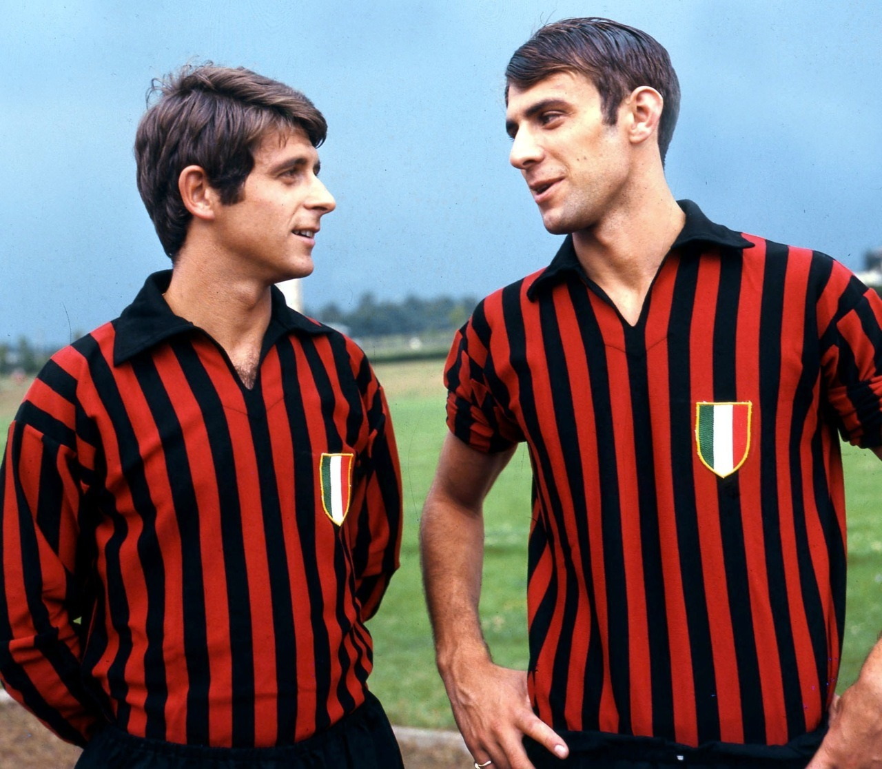 Gianni Rivera and Pierino Prati, late 1960s.