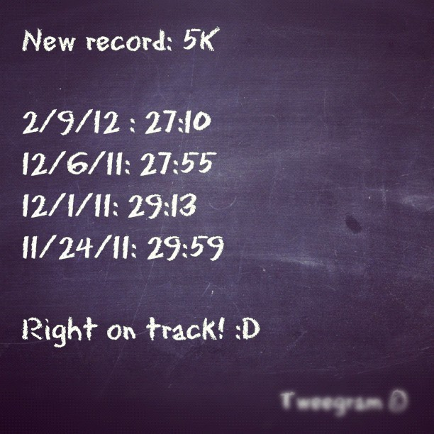 #tweegram #fitness #workout #health #improvement #running #nike #gym #record #time (Taken with instagram)