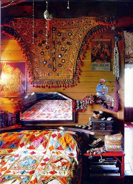 Cute and colorful Bohemian bedroom
