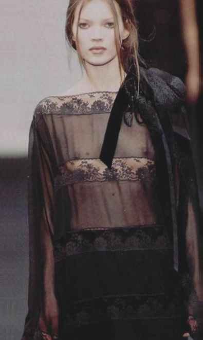 Kate Moss at Alberta Ferrertti SS93