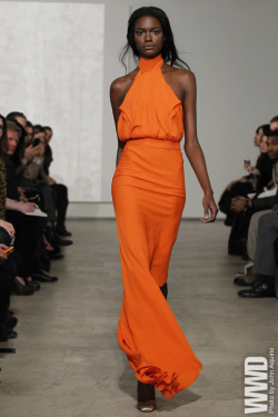 womensweardaily:  Juan Carlos Obando RTW Fall 2012 Juan Carlos Obando bid adieu to his draped looks from last season and opted for a more modern, streamlined aesthetic for fall.
