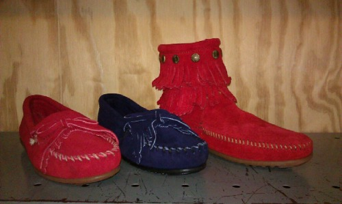 new colors of minnetonka kilty suedes and double fringe