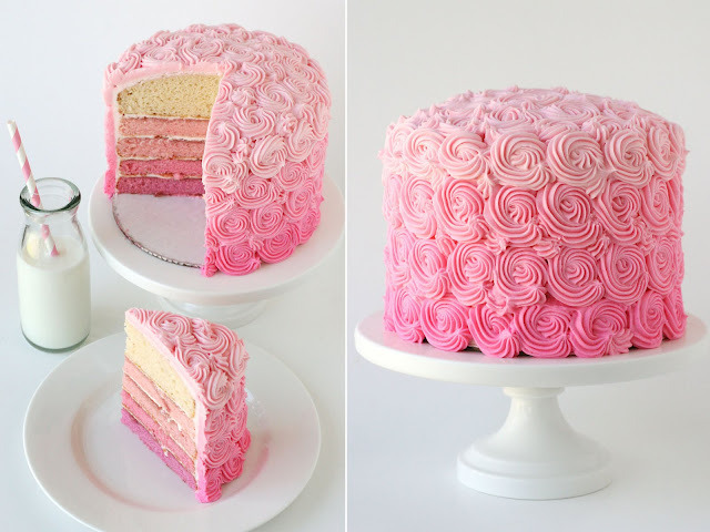 thecakebar:  Ombre Swirl Cake Tutorial/Recipe! (tutorial)