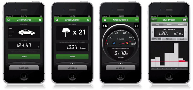 "iPhone app syncs with electric vehicles to track & share savings   We've seen a few different mobile apps aimed at helping drivers reduce their emissions — Toyota's ""A Glass of Water,"" for example — but it was only recently that we came across one targeting drivers of electric vehicles specifically. Sure enough, GreenCharge is a new iPhone app designed to help electric vehicle owners track and share their driving patterns, fuel savings and environmental contribution over time. READ MORE…"