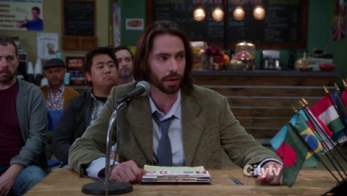 While I obviously loved Martin Starr's cameo in last week's Parks and Recreation episode, I wish he would've turned up earlier in the season in the model United Nations episode and reprised his model UN obsessed Community character.