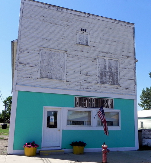 doubledaybooks:  The Richey Public Library, Richey, Montana.