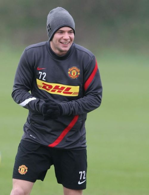 Cleverley on training session. He is back for Liverpool clash.