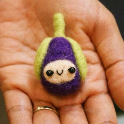 Eggplant #needlefelt #handmade (Taken with Instagram at owlcraftshop.com)