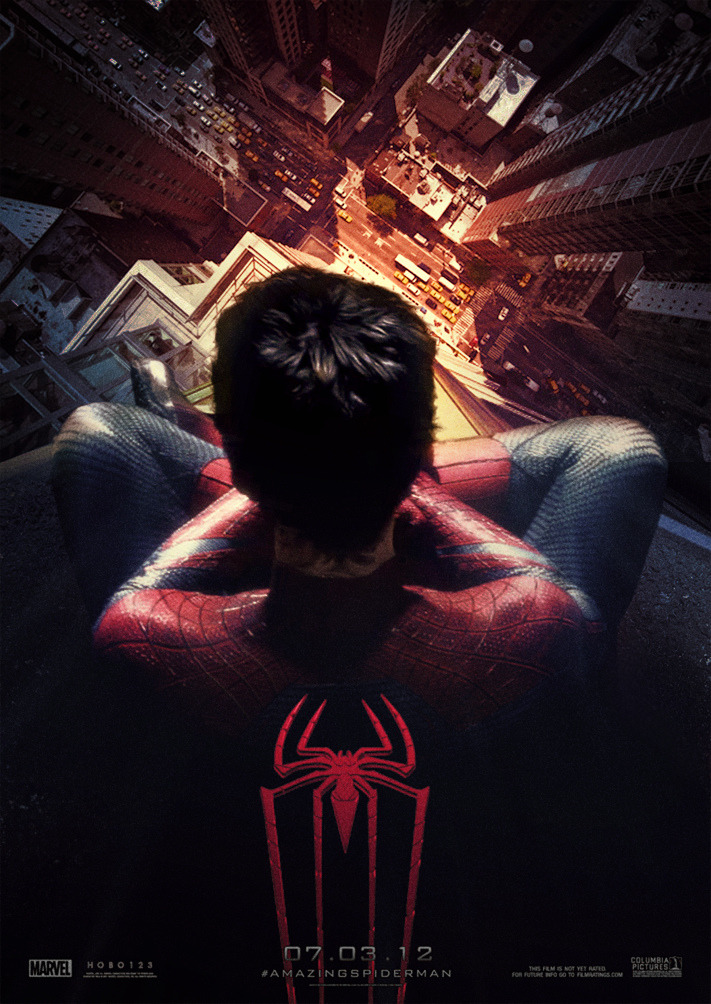 hawkeycity:  Easily one of my favorite movie posters.   Amazing Spiderman Theaterical Poster