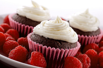 Dark Chocolate Raspberry Cupcakes by rkazda on Flickr.