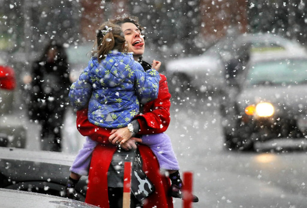 Up to six inches of snow could blanket some areas of Massachusetts on Saturday.
