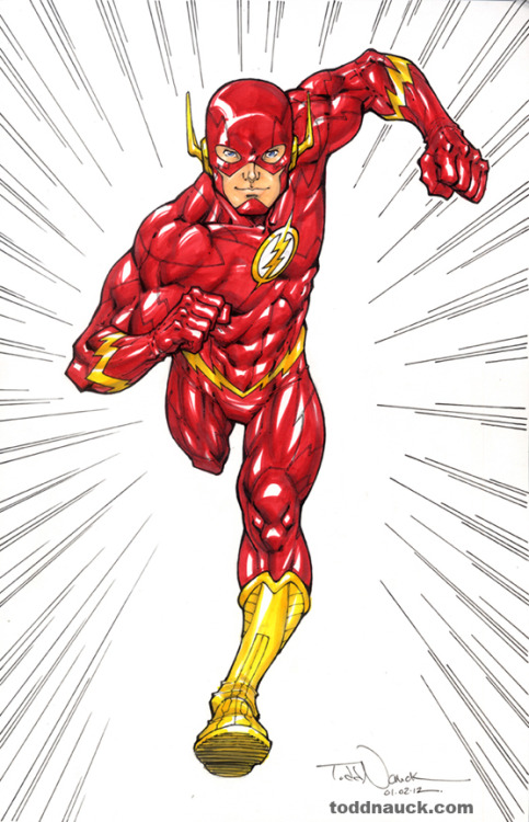 The Flash. DC New 52. Drawn with Copic Sketch Markers.
