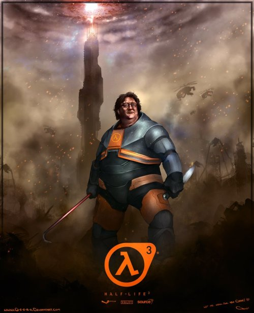 insanelygaming:  Gabe Newell - Half Life 3 - by Darren Lim Geers Browse more of his artwork on DeviantArt