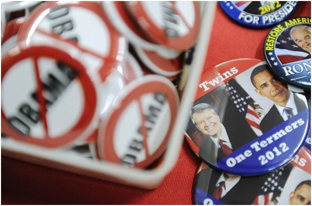 Bag's Take-Away: Regarding wire photos from the CPAC conference….I just don't think the Carter/Obama analogy works and it's one of those visual comparisons that disproves itself on first sight.  via Daylife (photo credit: Reuters caption: Buttons lampooning U.S. President Barack Obama are displayed at the American Conservative Union's annual Conservative Political Action Conference (CPAC) in Washington, February 9, 2012.) Visit BagNewsNotes: Today's Media Images Analyzed  ————— Topping LIFE.com's 2011 list of Best Photo Blogs, follow us at: BagNewsNotes; BAG Twitter; BAG Facebook; Bag by Email.