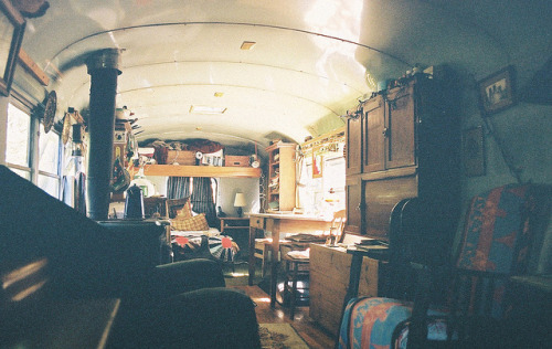school bus house. by krista dzialoszynski on Flickr.