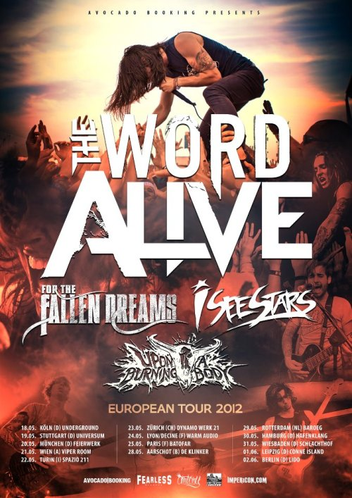 The Word Alive European Tour 2012