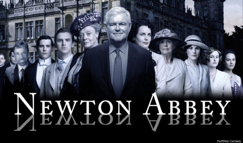 "dceiver:  —""Newt Gingrich's 'Dream Team' Photo Reminiscent Of 'Downton Abbey,'"" via HuffPost Comedy.  And then there's this. Hoorah for speedy memes!"