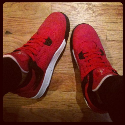 rwilson:  Hello first pair of Jordan's that don't release til tomorrow. :) (Taken with instagram)