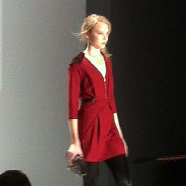A gorgeous collection from @rebeccaminkoff #nyfw #nyc #fashion #fashionweek  (Taken with Instagram at Mercedes Benz New York Fashion Week)