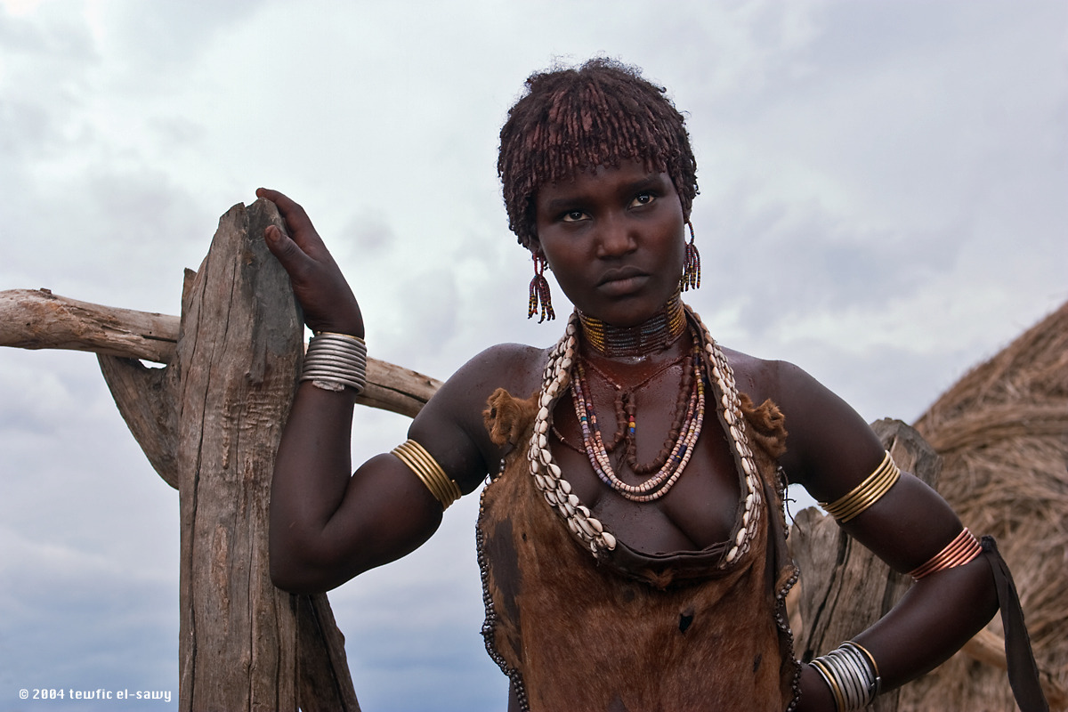 Hamar Woman, Omo Valley. Photo @ Tewfic El-Sawy