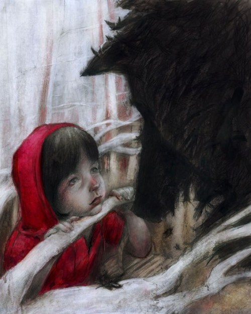 "fairytalemood:  ""First Encounter"" by Beatriz Martin Vidal"