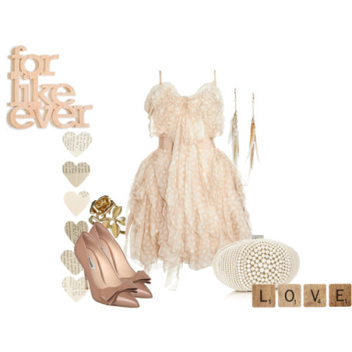 Forever Love by diamonddoll featuring a ruffle dress
