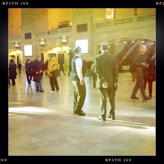 conductors. grand central. on Flickr.Metro North conductors at Grand Central.  Taken with Hipstamatic. Buckhorst H1 Lens, Pistil Film