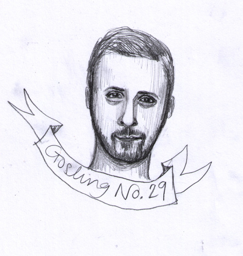 Gosling No. 29 My second to last Gosling!  It's not terrible, but it isn't amazing  either.  He has a weird expression on his face, ha ha.  One more to go! This drawing looks 53% like Ryan Gosling. An improvement yesterday's Gosling. ——- About this project:  I plan to draw 30 portraits of Ryan Gosling in 30 Days in an    effort to become better at portrait drawing, better at drawing men (I    always draw women.), and better at capturing the soul of Ryan Gosling.  By Tessa McSorley… Visit my website, HowToMakeArt.com, or my Etsy shop.