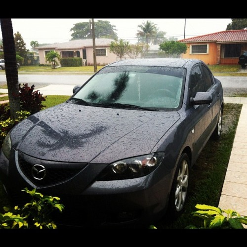 #rain # raining #car #cars #mazda #wet   #tag  #day  #palmtree #trees #tree #nature #house #ideas #cute #beautiful #view #views #love #instagram #random  (Taken with instagram)