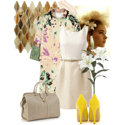 Secret Garden by diamonddoll featuring a jacquard dress
