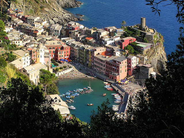 | ♕ |  View of Vernazza - Cinque Terre  | by © B℮n | via ysvoice