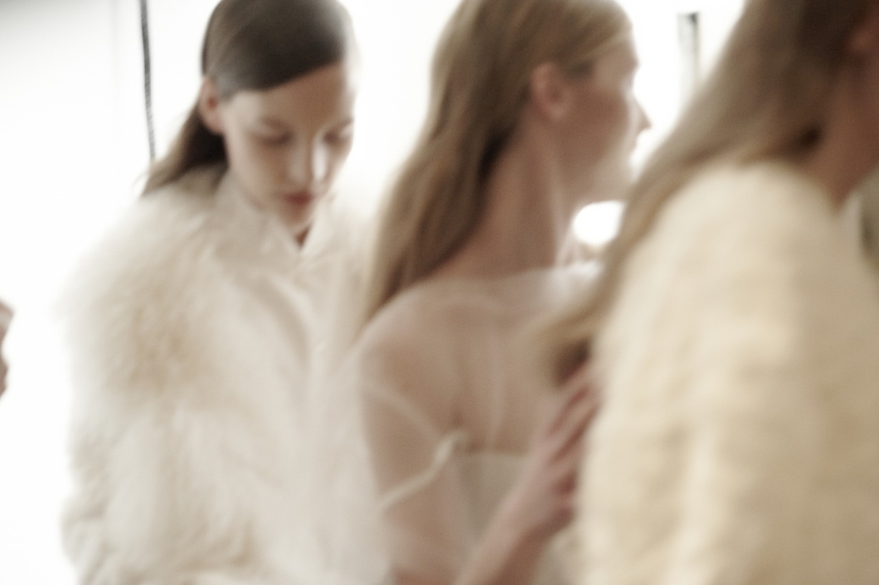 Backstage at Peter Som - by Cara Stricker