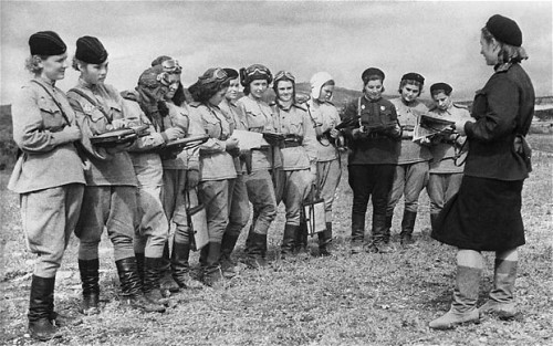rookiemag:  wrathofprawn:  for those not in the know, night witches were russian lady bombers who bombed the shit out of german lines in WW2. Thing is though, they had the oldest, noisiest, crappest planes in the entire world. The engines used to conk out halfway through their missions, so they had to climb out on the wings mid flight to restart the props. the planes were also so noisy that to stop germans from hearing them combing and starting up their anti aircraft guns, they'd climb up to a certain height, coast down to german positions, drop their bombs, restart their engines in midair, and get the fuck out of dodge. their leader flew over 200 missions and was never captured.   I'm essentially a pacifist, but this is BAD ASS.