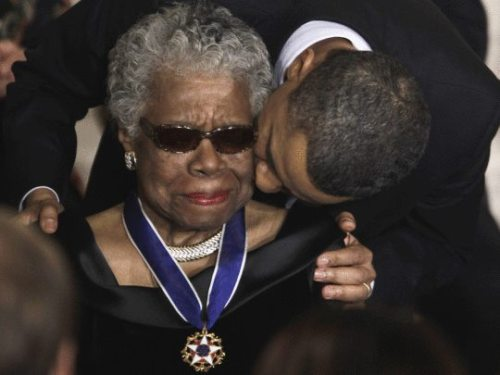 amuzed1:  micahpk:  President Obama presents Maya Angelou with the highest civilian honor.  <3