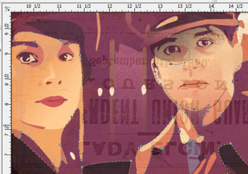 un:  A vignette of work I am doing on another Downton Abbey illustration.