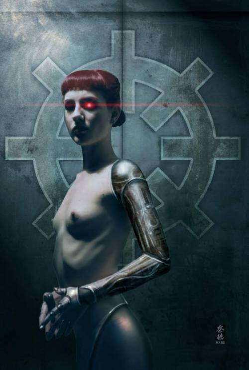 velvetcyberpunk:  This cyborg has her eye on you.