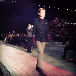 Varsity-style blazers and stripes at Tommy Hilfiger #attheshows  (Taken with instagram)