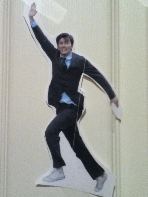 thatgingerdramaqueen:  David Tennant is on my door.