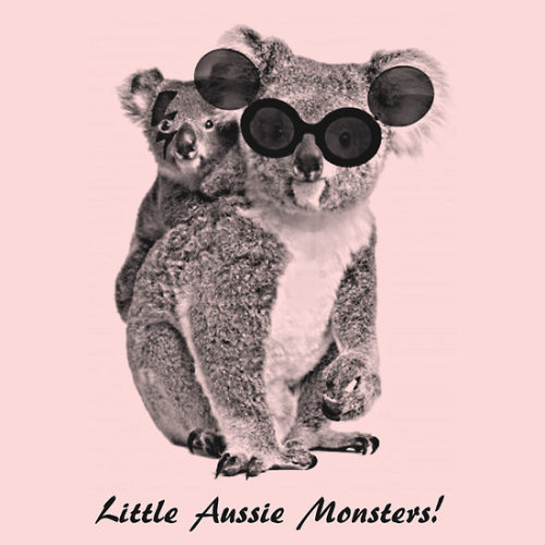 Little Aussie Monsters t-shirt by Adam de la Mare This t-shirt is for all you Aussie Lady Gaga fans who are getting a bit excited about her touring Australia soon.