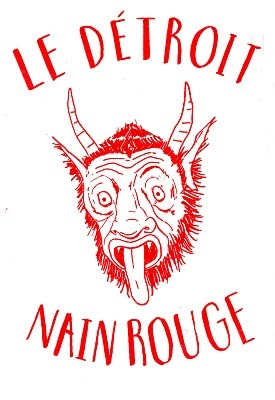 A great image of Le Nain Rouge I have on a journal acquired from Signal-Return in Eastern Market. Perhaps this from Michael Eugene is where that book came from…