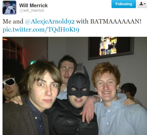 This is why Will getting a twitter is awesome.  I want to be batman.