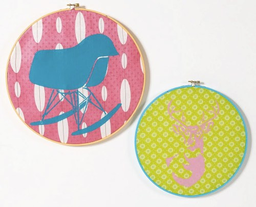 (via Embroidery hoop wall art. - Mod Podge Rocks!)