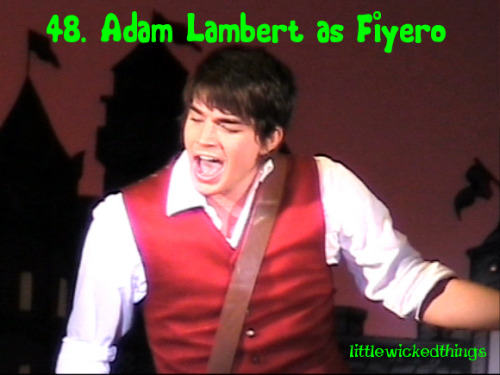 48. Adam Lambert as Fiyero