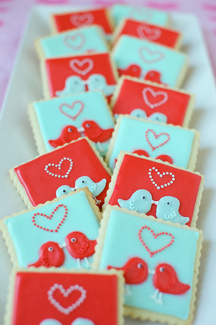 love bird cookies.