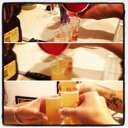 First one was successful #shots #goodtimes  (Taken with instagram)