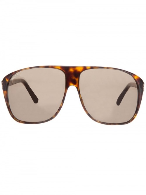 Gucci Tortoise Shell Aviator Sunglasses